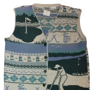 Northern reflections double sided sweater vest gol